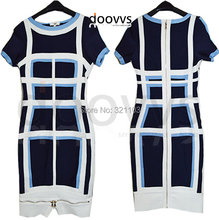 Fashion Women Bandage Dress Ladies'zipper Dress Leather Short Sleeve Sexy Bodycon Women's Clubwear Midi Dress