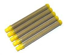 Airless aprayer 50x Titan Style Yellow Airless Spray Gun Filters Screw In 100 Mesh Yellow
