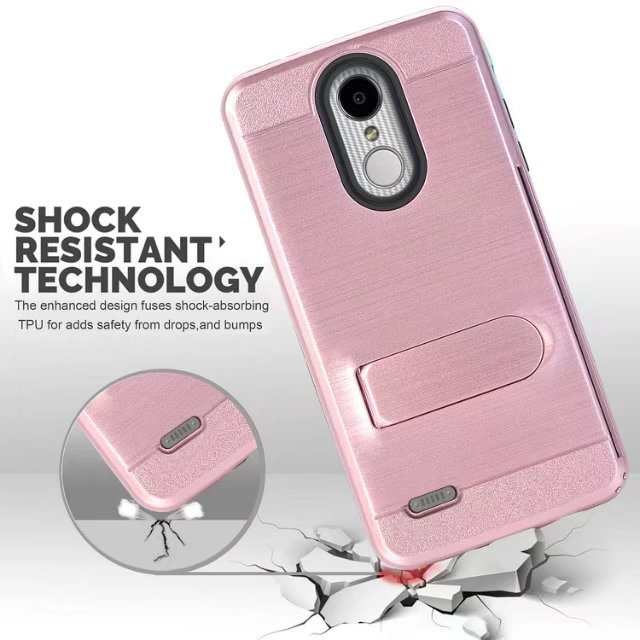 US $6 98  For LG Tribute Dynasty LG Zone 4 Hybrid Armor Diamond Rugged  Bling case PC Silicon back case For LG Aristo 2 Tribute Dynasty-in Fitted  Cases