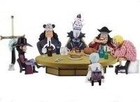 NEW Hot 5cm 6pcs Set One Piece Doflamingo Kuma Teach Dracule Mihawk Action Figure Toys Collection