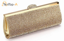 TenTop-A Best Price Diamond Eveningbag High Grade Full Rhinestone Dinner Bags/Clutch Purse/Bridal Wedding Bags black silver & gold