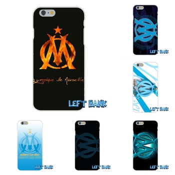 For Samsung Galaxy Note 3 4 5 S4 S5 MINI S6 S7 edge Olympique de Marseille FC logo Soft Silicone TPU Transparent Cover Case