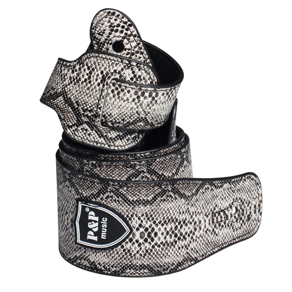 ALI shop ...  ... 32858513642 ... 3 ... Snake Skin Design PU Imitation Leather Guitar Strap For Electric Guitar Acoustic Guitar Folk Guitar Bass Strap ...