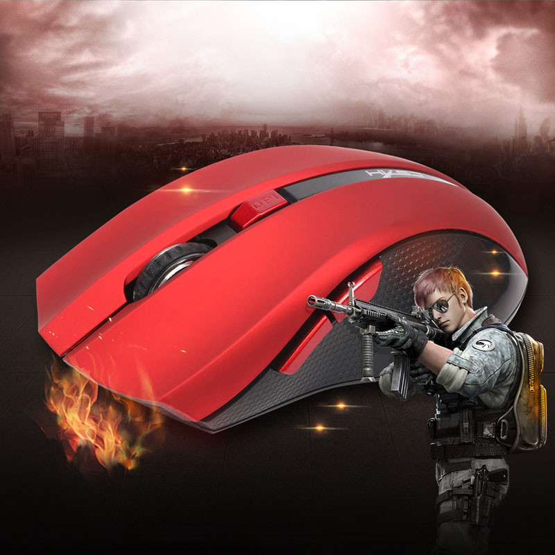 ANENG Wireless Mause Black/Red 2400DPI Optical Ergonomic Mice Portable Mini USB Gaming Mouse For Computer PC Laptop