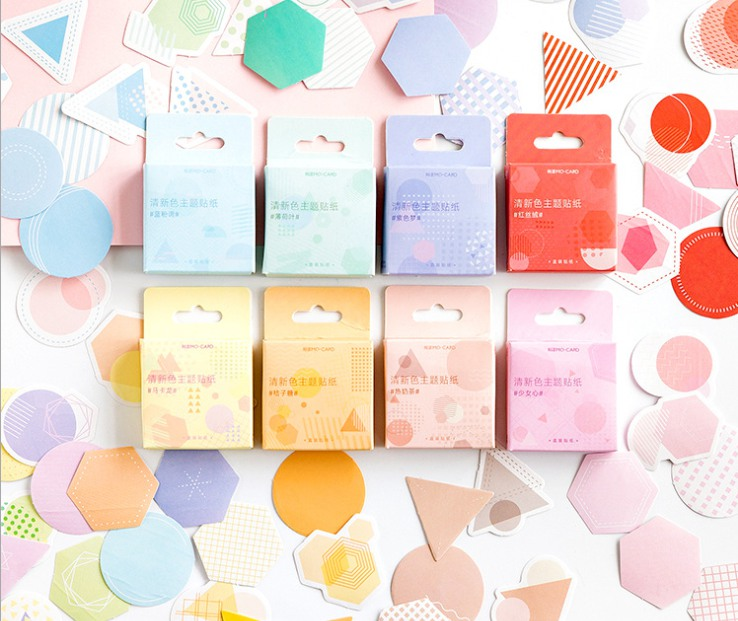 Colorful Round Diy Decorative Stationary Sticker(1pack=46pieces)