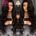Hot Synthetic Lace Front Wig Natural Wave Heat Resistant Lace Front Wig Black Deep Wave Hair for Black Women Wigs