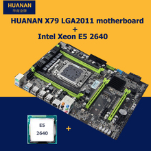 HUANAN V2.49 X79 motherboard CPU kit X79 LGA2011 motherboard CPU Xeon E5 2640 PCI-E NVME SSD M.2 port RAM 4 channels all tested