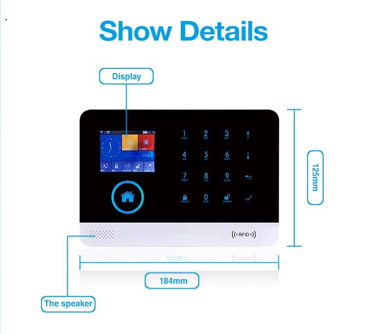 Yobang Sicherheit Drahtlose wifi GSM RFID alarm syetem Drahtlose Sirene Sensor Home Smart Alarm System - 6