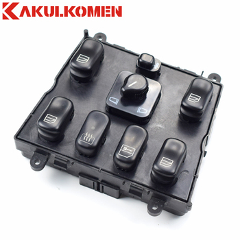 Elektrische Master Power Venster Regulator Schakelaar Knop Panel 1638206610 EEN 163 820 66 10 Voor Mercedes-Benz W163 ML230 ML320