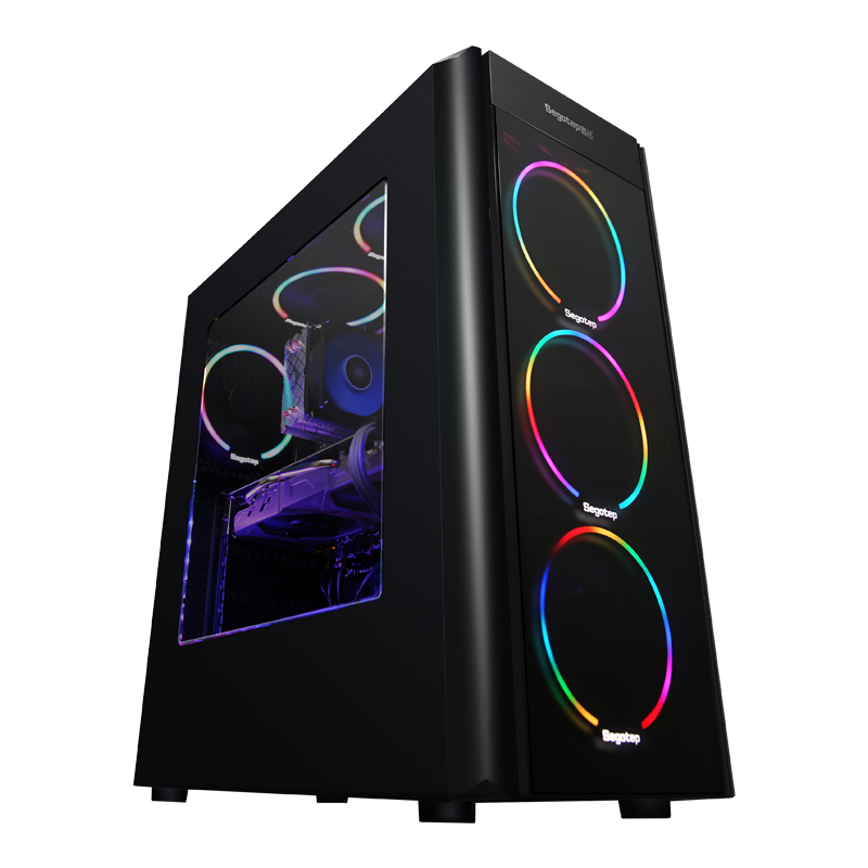 KOTIN S18 AMD Desktop PC AMD Ryzen 7 1700 COLORFUL GTX1060 5G 240GB B350M Motherboard 8G RAM Frees RGB Fan PUBG 400W PSU getworth s7 desktop computer ryzen 7 1700 geforece gtx1080 240g ssd 1tb 500w free led fans 8g ram win10 pubg free shipping