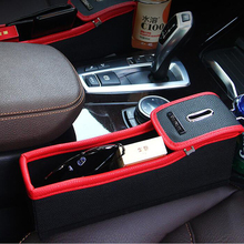 Creative Car seat Storage Box Cup Drink Holder Mobile Coin box Multiple Functions car control gap storage freeshipping
