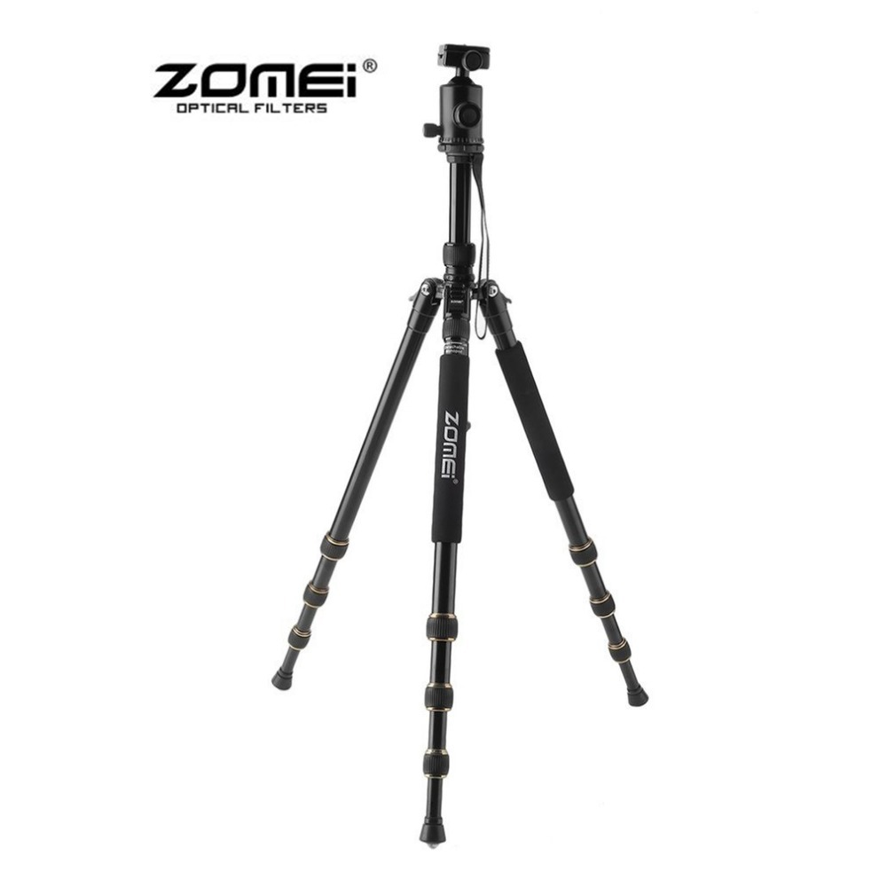 ZOMEI Z688 Travel Portable Professional Tripod Monopod 360 Degree Swivel Ball Head For DSLR Camera SLR Camera aluminium alloy professional camera tripod flexible dslr video monopod for photography with head suitable for 65mm bowl size