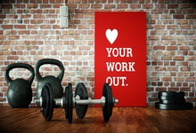 Laeacco Photo Backdrops Gym Weightlifting Dumbbell Sport Brick Wall Baby Child Portrait Photography Backgrounds Studio
