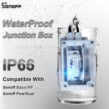 Sonoff IP66 Chống Nước Ngã Ba Hộp Chống Nước Chống Nước Vỏ Hỗ Trợ Sonoff Basic/RF/Dual/Tù Binh cho Xmas Đèn Cây
