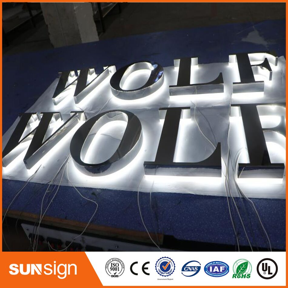 Custom Outdoor Store Advertising LED Lighted Metal Letters For Signs