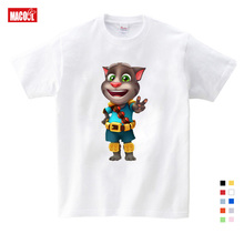 2019 Childrens Favorite Games Can Speak Tom Cat Prints Boy T-shirt Summer and His Friends Cartoon Free shipping