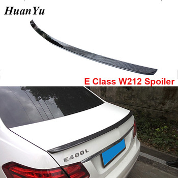 E Class W212 4-Door Rear Spoiler for BMW Carbon Fiber Gloss Sedan Back Trunk Wings 2010-2016 E250 E300 E350 E550 image