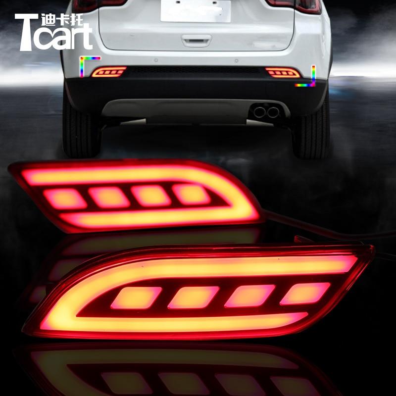 Tcart 1Set New Auto Led Tail Brake Lights Reflector Car LED Rear Bumper Light Fog font