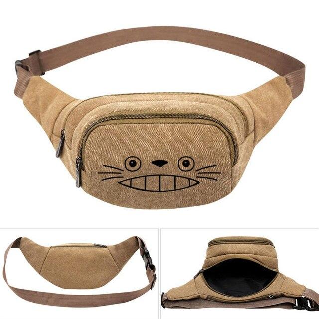 جارتي توتورو أنيمي قماش الخصر حقيبة ظهر حزام الحقيبة السفر الورك حقيبة فاني عادية المال الهاتف حقيبة بحزام