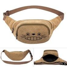 My Neighbor Totoro Anime Canvas Taille Pack Bag Pouch Belt Travel Hip Casual Fanny Tas Geld Telefoon Riem Tas
