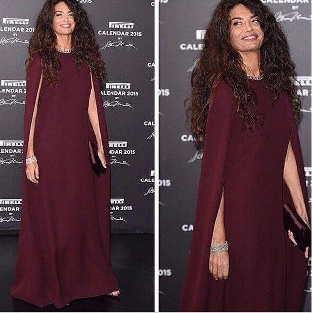 Burgund Lange Abendkleid 2016 Promi Türkisch Islamische Muslimischen ...