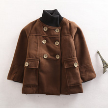 The new boy cloth Coat with thick coat to keep warm the double-breasted jacket on sale free shipping
