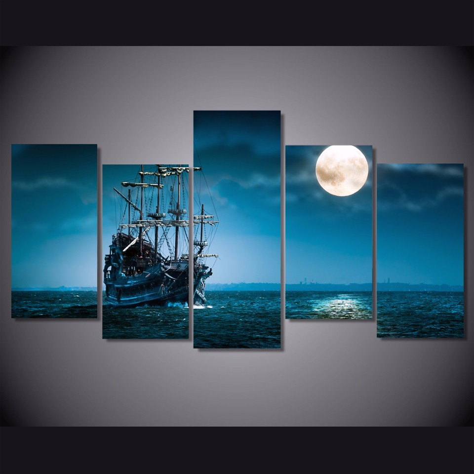 Pirate Ship Art//Canvas Print Wall Art Home Decor Poster