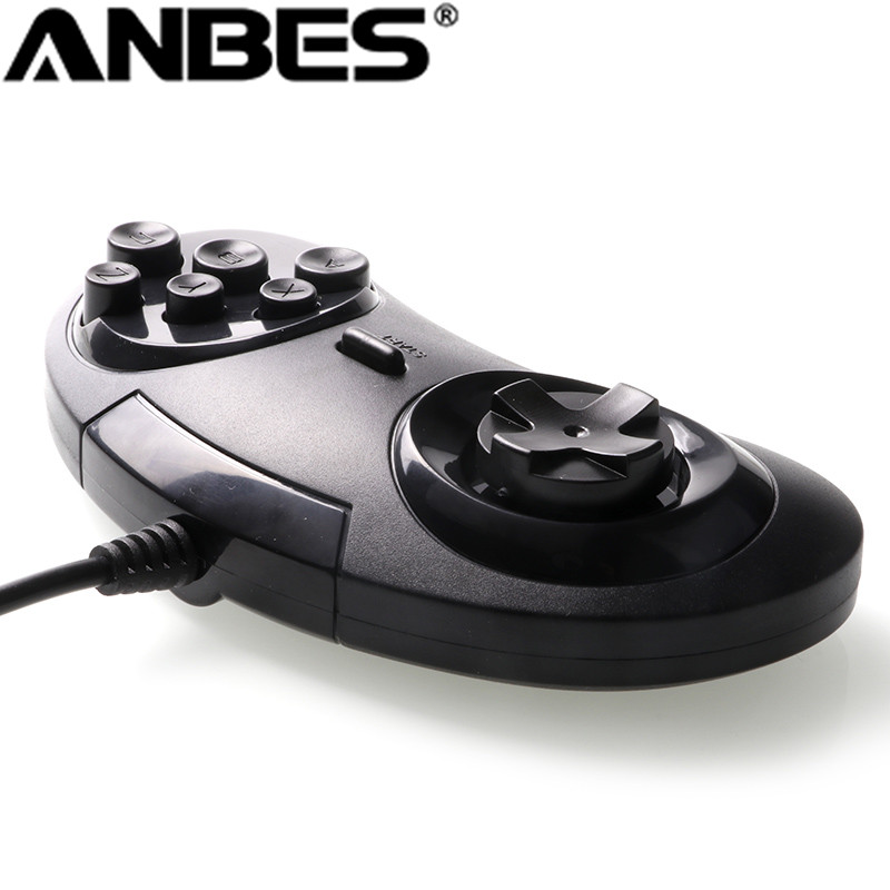 for SEGA Genesis/MD2 Y1301 USB Gamepad Game Controller 6 Buttons SEGA USB Gaming Joystick Holder for PC MAC Mega Drive Gamepads