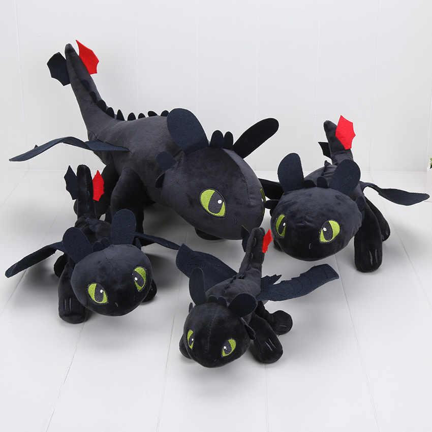 23/33/40/55 centímetros filme boneca de brinquedo Como treinar O Seu Dragão Desdentado Fúria Da Noite Plush boneca de Pelúcia Macia Boneca de Brinquedo