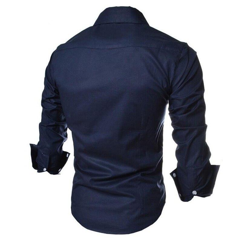 2017 new brand long sleeve shirts social male 5 colors slim fit  striped shirts plus size 3xl mens dress shirts 3