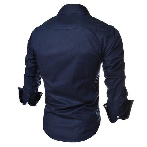 2017 new brand long sleeve shirts social male 5 colors slim fit  striped shirts plus size 3xl mens dress shirts Karachi
