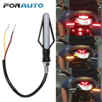 FORAUTO 1 Pcs 24 LED รถจักรยานยนต์ Turn ไฟสัญญาณรถจักรยานยนต์ตัวบ่งชี้สำหรับหมอก Moto หางเบรคไฟลำแสงกระพริบ