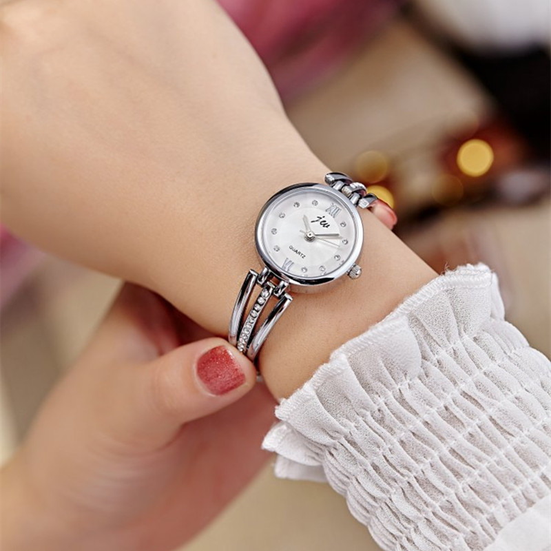 New Fashion Rhinestone Watches Women Luxury Brand Stainless Steel Bracelet watches Ladies Quartz Dress Watches reloj mujer Clock 5