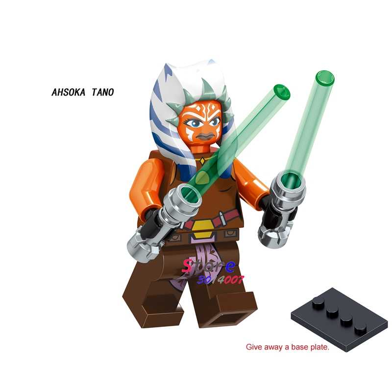 1 sztuk modelu klocki działania superbohaterowie Ahsoka Tano lys edukacyjne dc diy zabawki dla dzieci prezent
