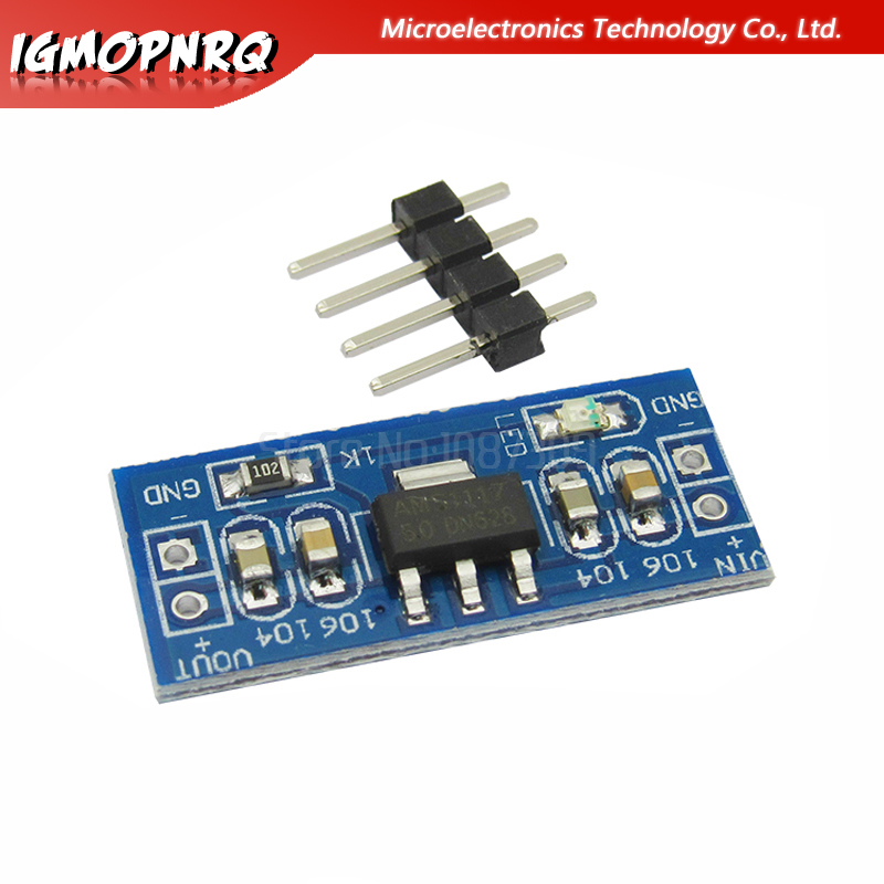 5pcs AMS1117 High Quality 5V to 3.3V For DC-DC Step-Down Supply Buck Module AMS1117 LDO 800MA new image