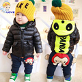 SL-218 Crianças Luva Cheia Jaqueta Quente para Meninos Das Meninas Roupa Dos Miúdos Casacos de Inverno Menino Zipper Casaco de Inverno Parkas