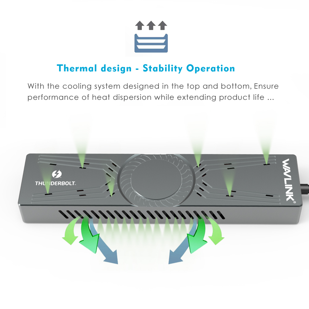 Hot Sale] Intel Certificated Wavlink Thunderbolt 3 to NVMe