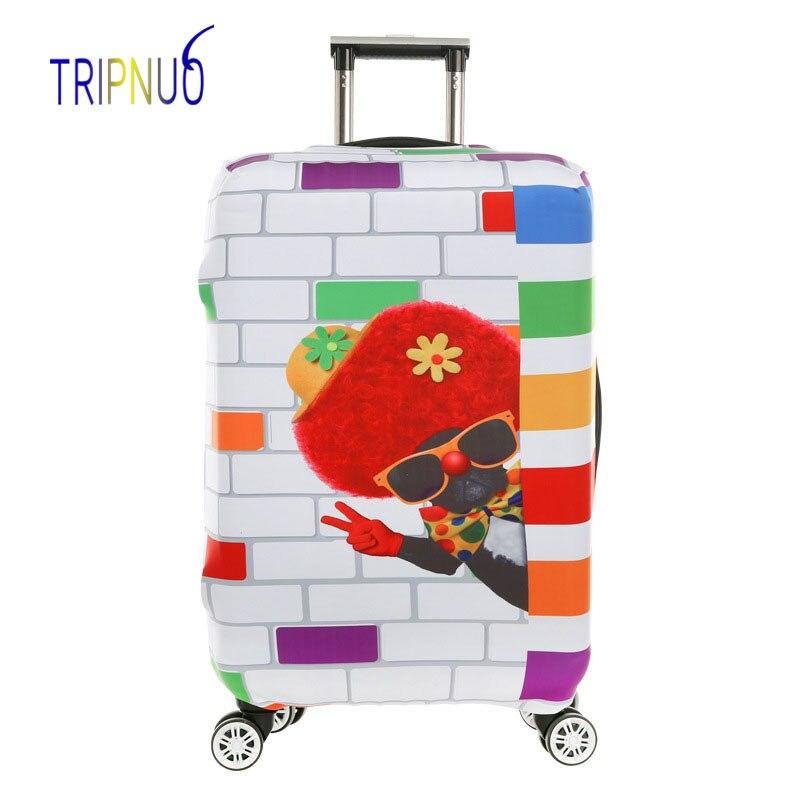 TRIPNUO мультфильм Для мужчин эластичные Чемодан чехол для 19-32 дюймов тележка толстый чемодан защиты пыли Чехол дорожные аксессуары