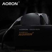 Genuine Aluminum Sport Sunglasses Men Polarized Goggles Sun Glasses AORON Brand Logo Driving Eyewear Accessories