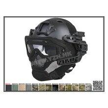 PJ Kask ABS Maska z Gogle Taktyczne EMERSON Nowy G4 dla Army Military Airsoft Paintball Polowanie WarGame Motocykl Jazda Na Rowerze
