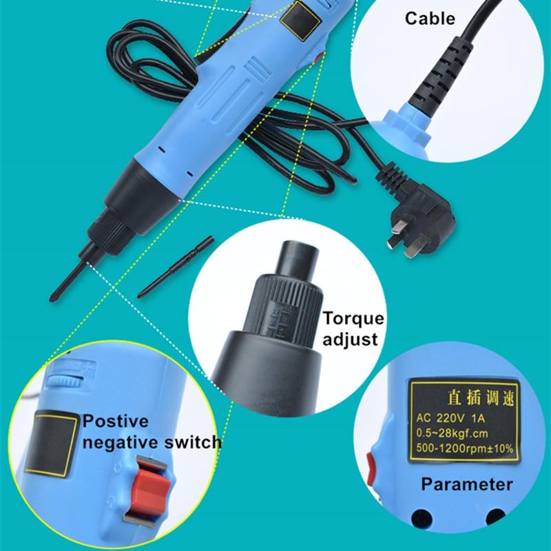 220-240v cacciavite elettrico spina dritta regolazione della coppia a - Utensili elettrici - Fotografia 5