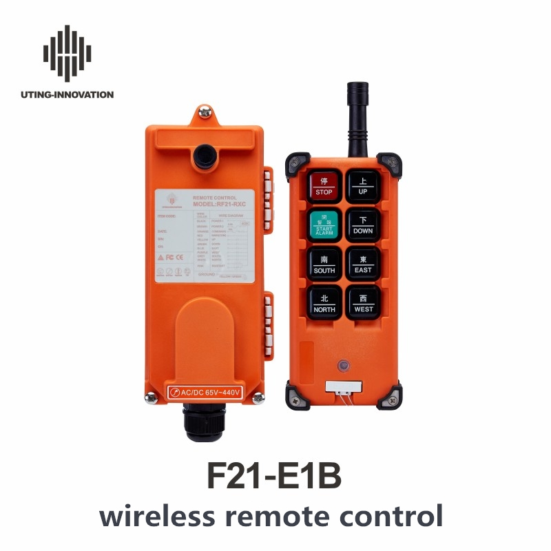 CE FCC Industrial Wireless Remote Control 24V 36V 110V 220V 380V RF21-E1B for Hoist Crane Remote Control 8 Channels Controller nice uting ce fcc industrial wireless radio double speed f21 4d remote control 1 transmitter 1 receiver for crane
