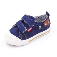 2018 New Children fashion sneaakers Boys Girls soft sole sport shoes casual kids Denim Canvas shoes baby toddlers shoes for 1-6Y(China)