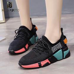 Prova perfetto женские кроссовки белые/черные дышащие весенние повседневные туфли женские цвета туфли на каблуке 5 см zapatillas mujer