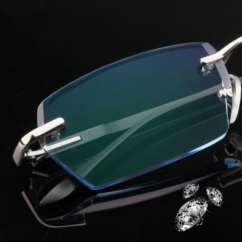 Rimless Glasses Custom Made Prescription Glasses Fashion men s Optical glasses Myopia Hyperopia Progressive prescription