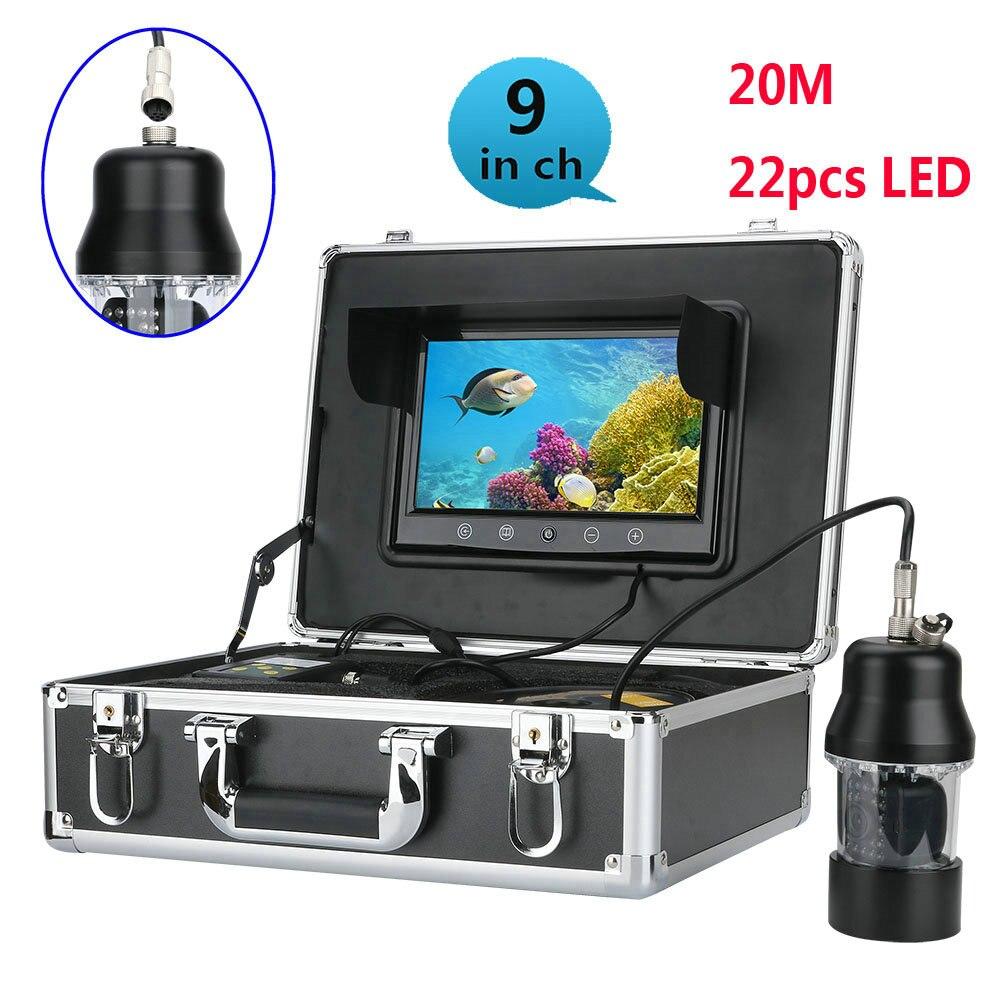 20m Professional Underwater Fishing Video Camera Fish Finder 9 Inch Color Screen Waterproof 22 Leds 360 Degree Rotating Camera Nourishing Blood And Adjusting Spirit