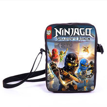 Купить с кэшбэком Cartoon Mini Crossbody Shoulder Bag for Kids Wallet Purse Lego Ninjago Message Bag for Teens Boys Girs