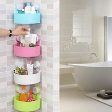 Corner Mounted Storage Shelf Strong Vacuum Suction Cup Triangle Rack Organizer Kitchen Bathroom Indoor Home Household