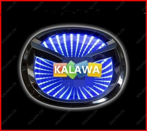 Big Logo (10.1cm*8cm) 3D laser LED emblem car badge 3D logo light rear light Replacement Case For mazida  GGG FREESHIPPING M6 car 5d logo light mazda badge sticker light led emblem light 5d for mazda 6 2 3 8 cx7