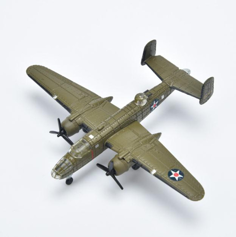 1:200 alloy aircraft model,high simulation B25 bomber model,diecast metal toy,collection model,Children's gift,free shipping image